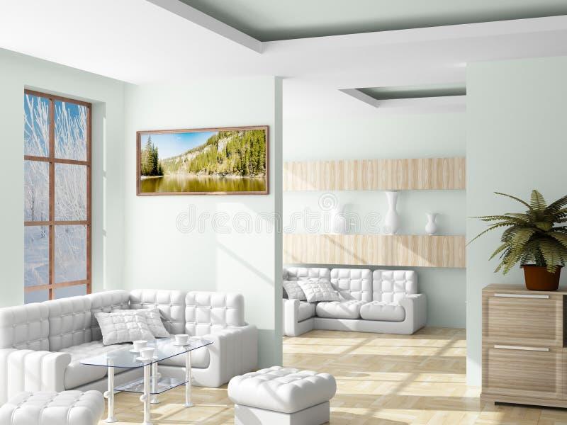 Innenraum eines Wohnzimmers. lizenzfreie abbildung