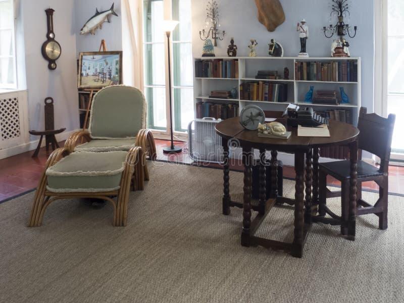 Innenraum Ernest Hemingway Houses, Key West stockbilder