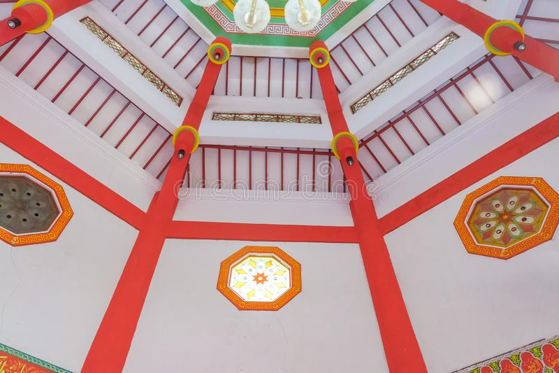 Innenraum gro?artigen Moschee Cheng-hoo in Purbalingga, Indonesien stockbilder