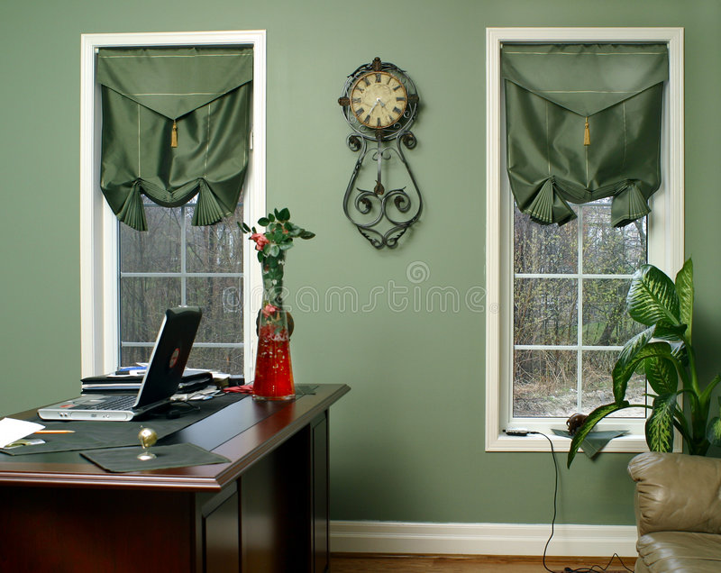 Innenraum im Grün stockfoto