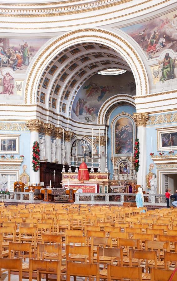 Innenraum Kirche der Str.-Mary stockfoto