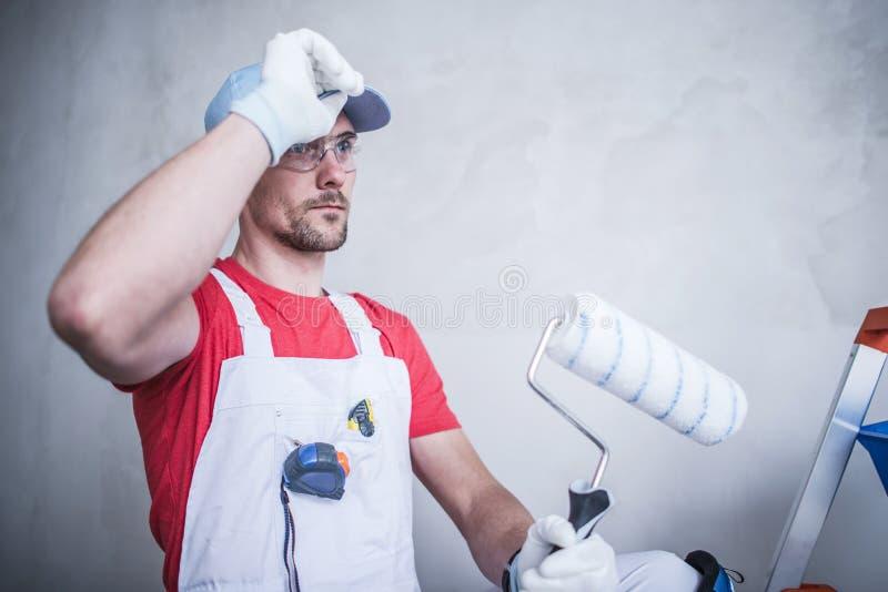 Innenraum-Maler Worker lizenzfreies stockbild