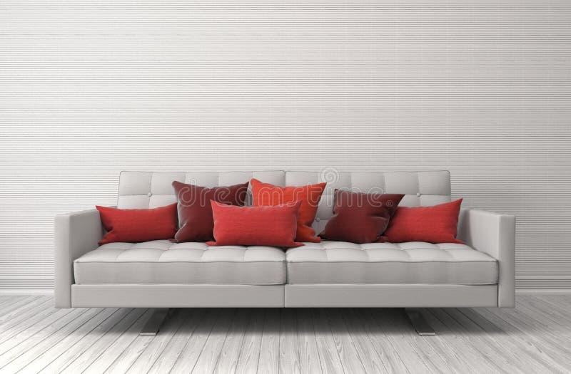 innenraum mit sofa abbildung 3d stock abbildung illustration von bequem leer 70006009. Black Bedroom Furniture Sets. Home Design Ideas