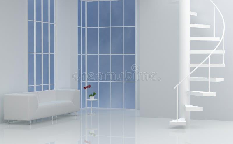 Innenraum mit Treppenhaus vektor abbildung