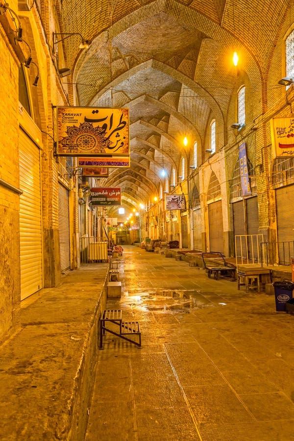 Innenraum Shiraz Bazaar-e Vakil stockfotografie