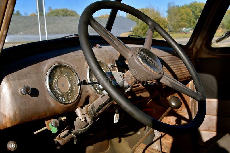 Innenraum später 40 ` s Chevy Aufnahme lizenzfreie stockfotografie