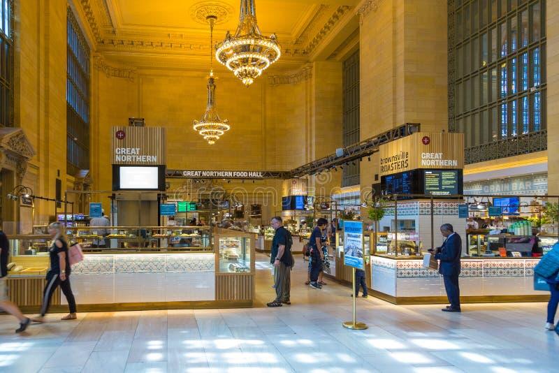Innenraum und Details von Grand Central -Anschluss in New York lizenzfreie stockbilder