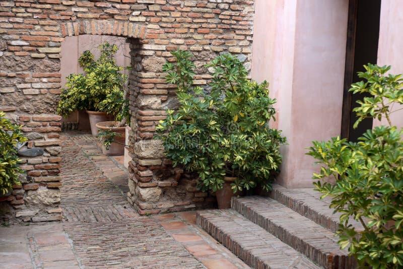Innenraum von Alcazaba stockfoto