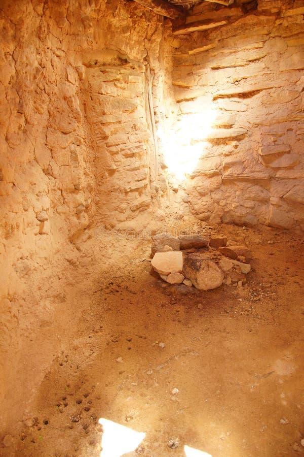Innenraum von Anasazi-Pueblo lizenzfreies stockbild