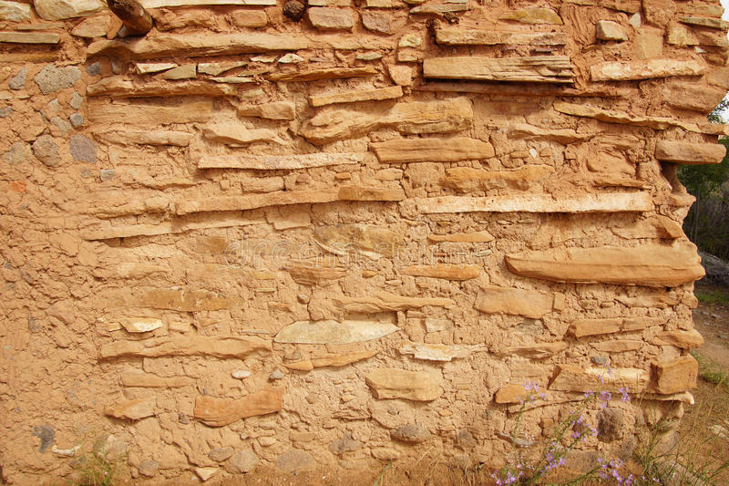 Innenraum von Anasazi-Pueblo lizenzfreie stockfotografie