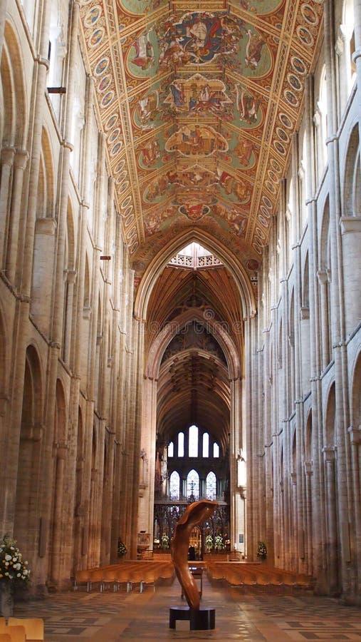 Innenraum von Ely Cathedral, England stockfotos