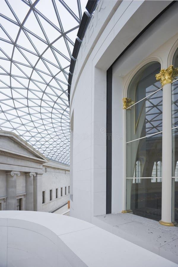 Innenraum von großem Hall in British Museum. lizenzfreies stockbild