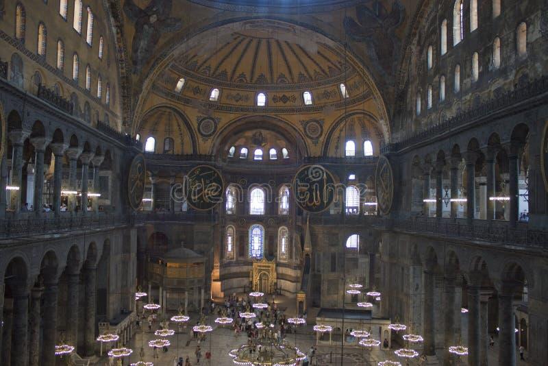 Innenraum von Hagia Sofia stockfotos