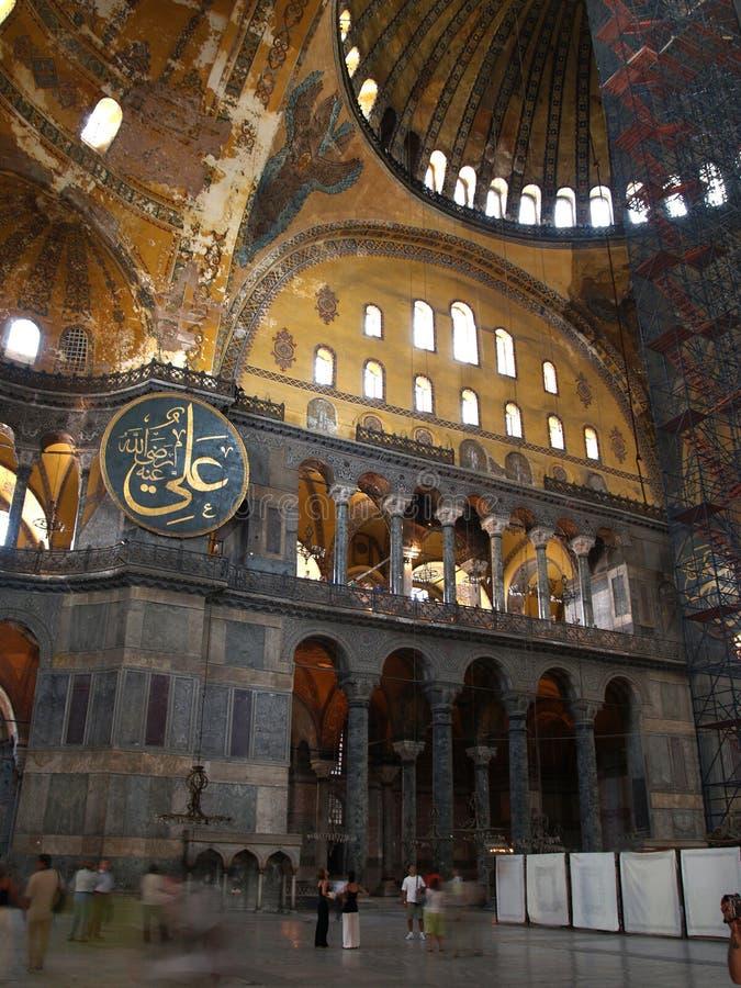 Innenraum von Hagia Sophia in Istanbul stockfoto