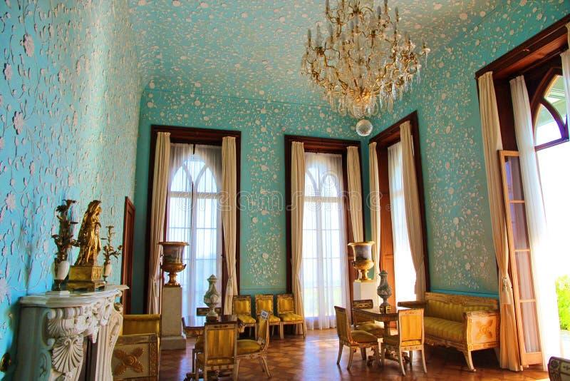 Innenraum von Hallen in Vorontsov-Palast in Alupka, Krim lizenzfreie stockbilder