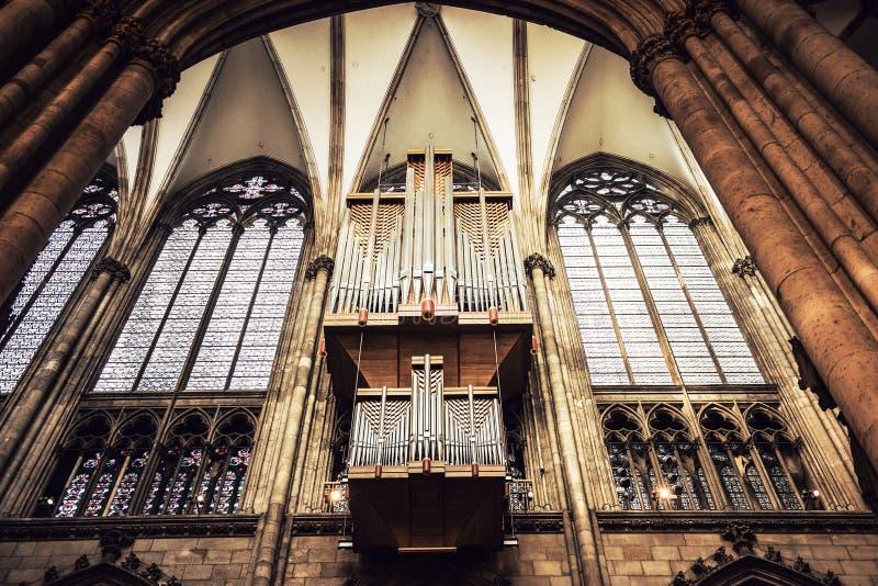 Innenraum von Köln-Kathedrale lizenzfreies stockfoto