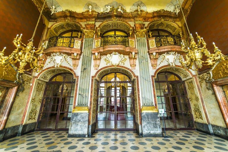 Innenraum von Ksiaz-Schloss lizenzfreie stockbilder