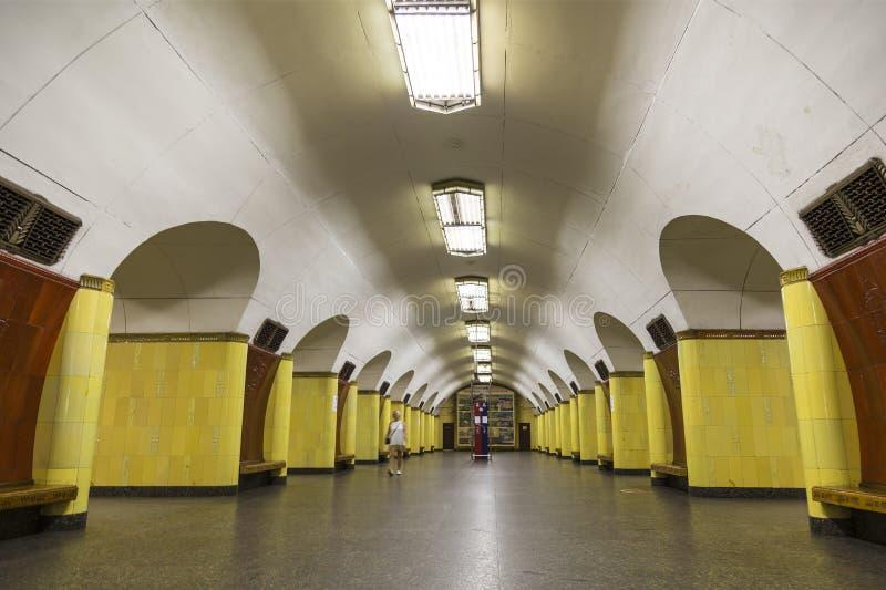 Innenraum von Moskau-Metrostation ` Rizhskaya-`, Moskau, lizenzfreie stockfotografie