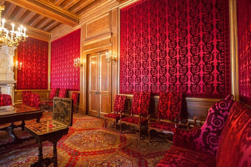 Innenraum von Pau Castle (Chateaude Pau), Frankreich stockbilder