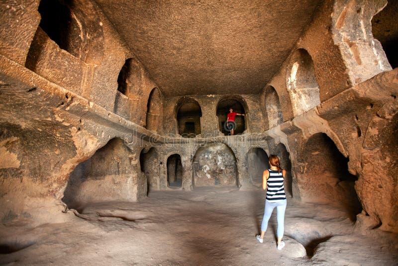 Innenraum von Selime-Kloster Cappadocia stockbilder