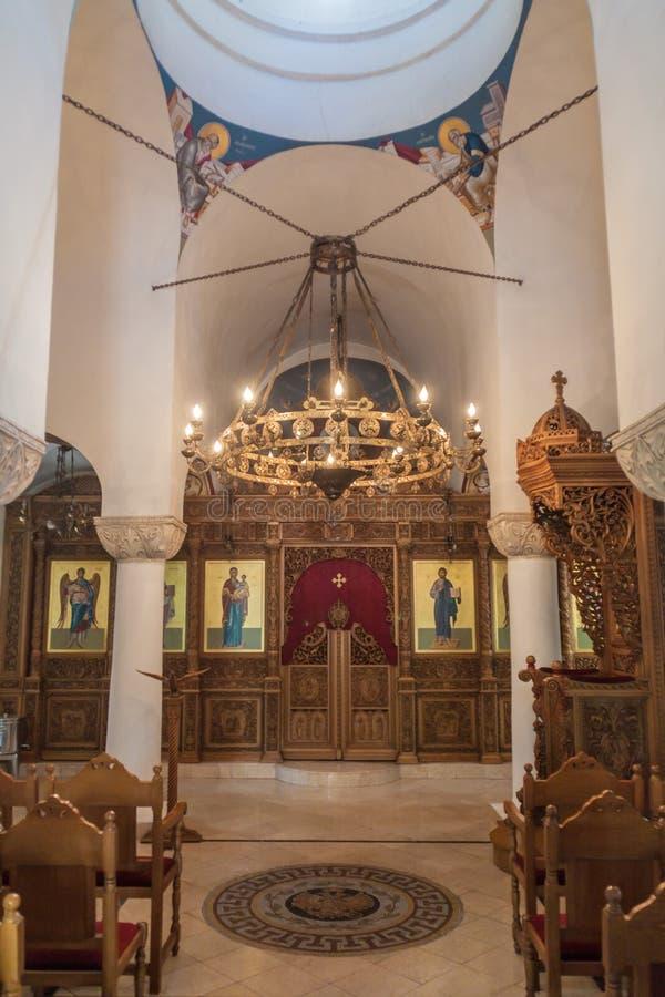 Innenraum von St. Nicholas Greek Orthodox Church in Havana, Kuba lizenzfreie stockfotografie