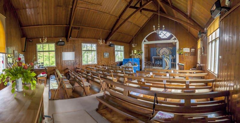 Innenraum von Tin Church Low Newton lizenzfreies stockfoto