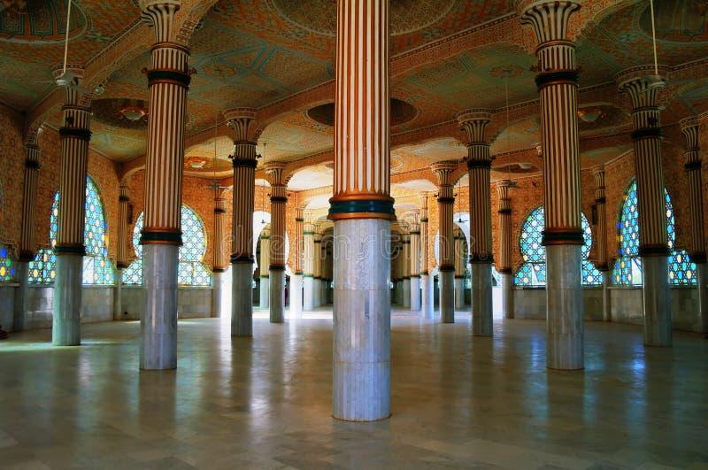 Innenraum von Touba-Moschee, Senegal stockfoto