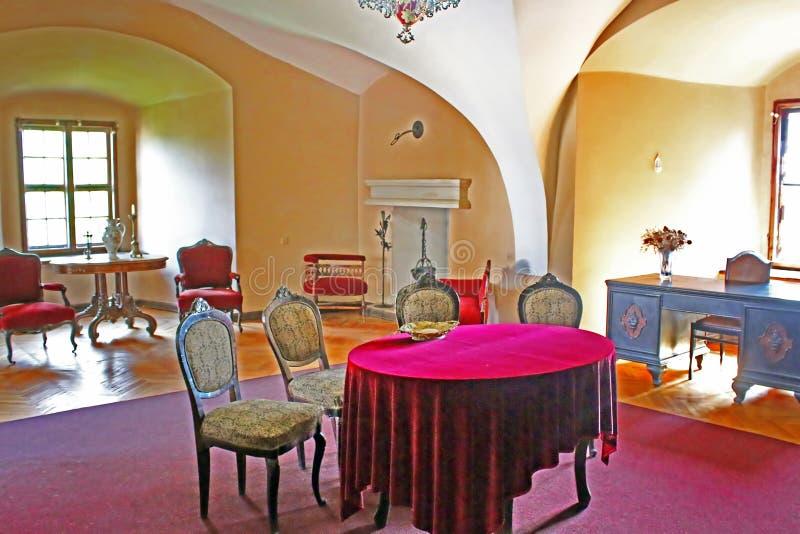 Innenraum von Uzhhorod-Schloss (Ukraine) stockbilder