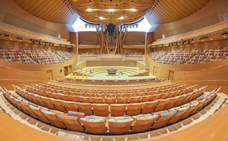 Innenraum Walt Disney Concert Halls stockfoto
