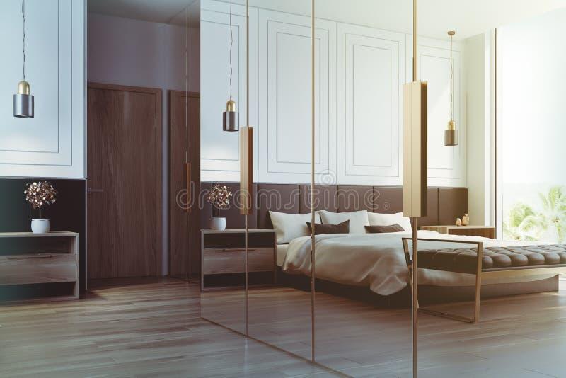Innenreflexion des weißen Schlafzimmers getont vektor abbildung