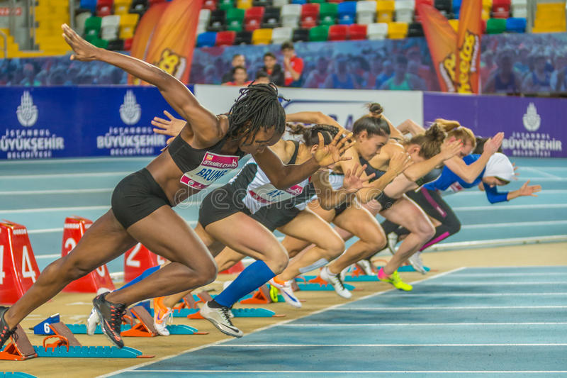 Innenschalen-Meisterschaften in Istanbul - der Türkei lizenzfreie stockfotografie