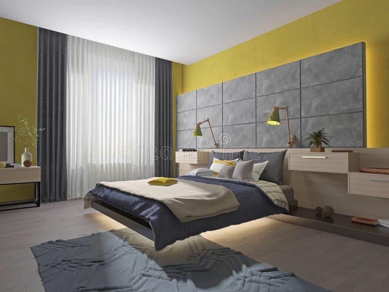 Innenschlafzimmerjugendlichbett stock abbildung