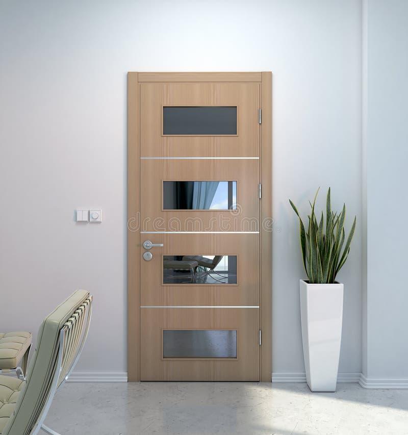 Innenszene mit Tür stock abbildung