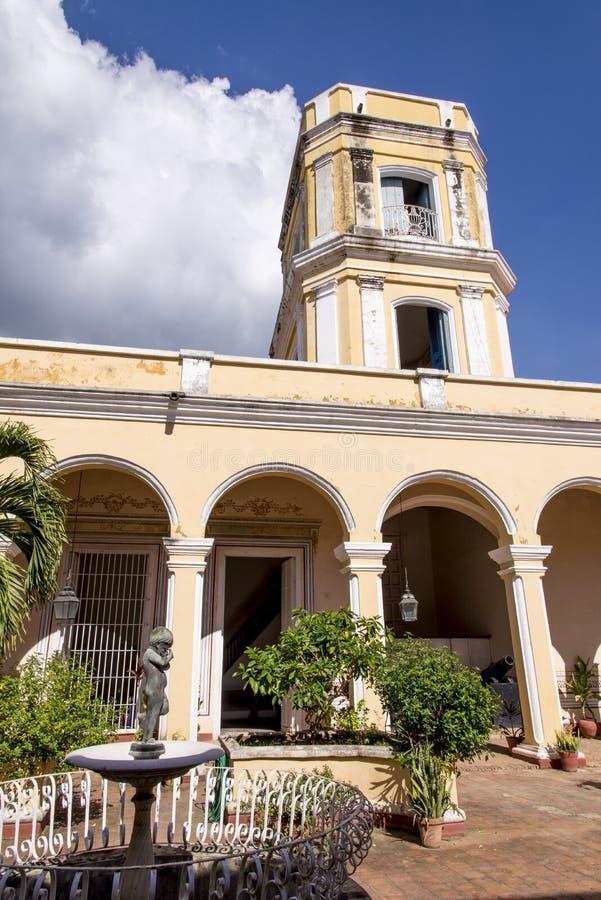 Innenyard haus- Trinidad, Kuba stockbilder