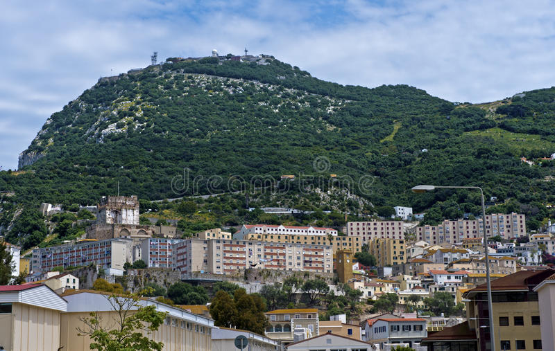 Download Inner city of Gibraltar stock image. Image of building - 35471725