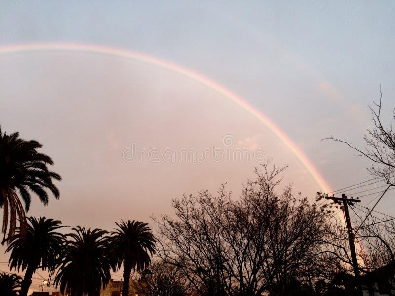 An inner city rainbow royalty free stock photos