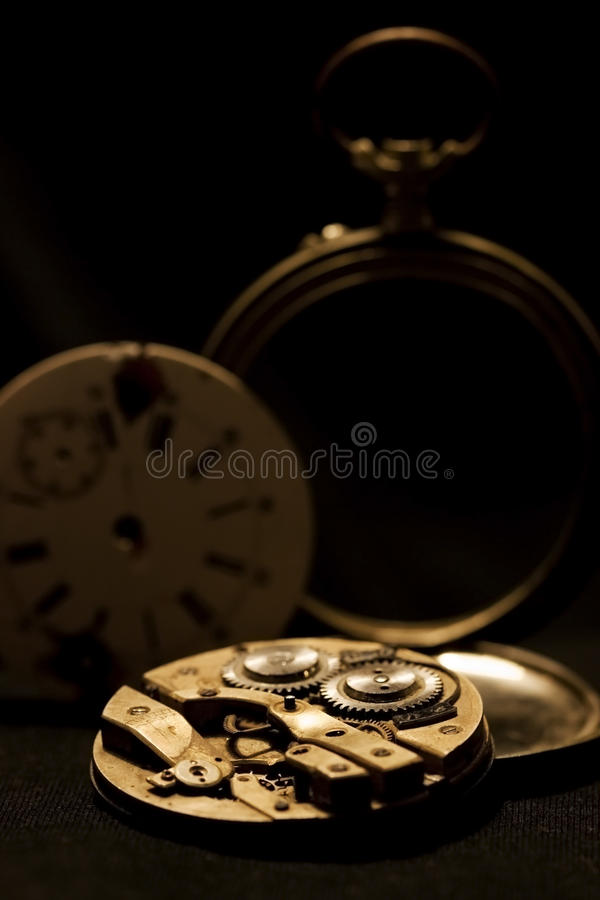 Inner clock workings royalty free stock photography
