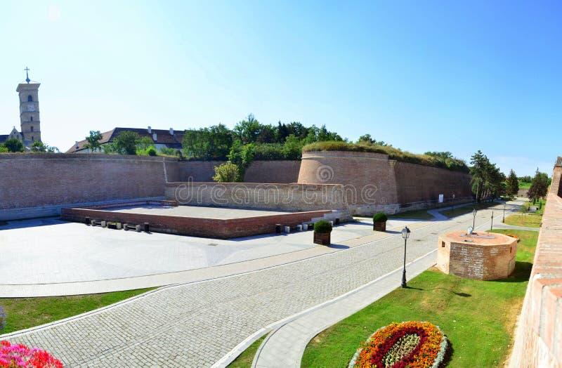 Inner courtyard of Alba Iulia citadel #4. Image of the inner courtyard of Alba Iulia citadel in Alba Iulia city stock photos