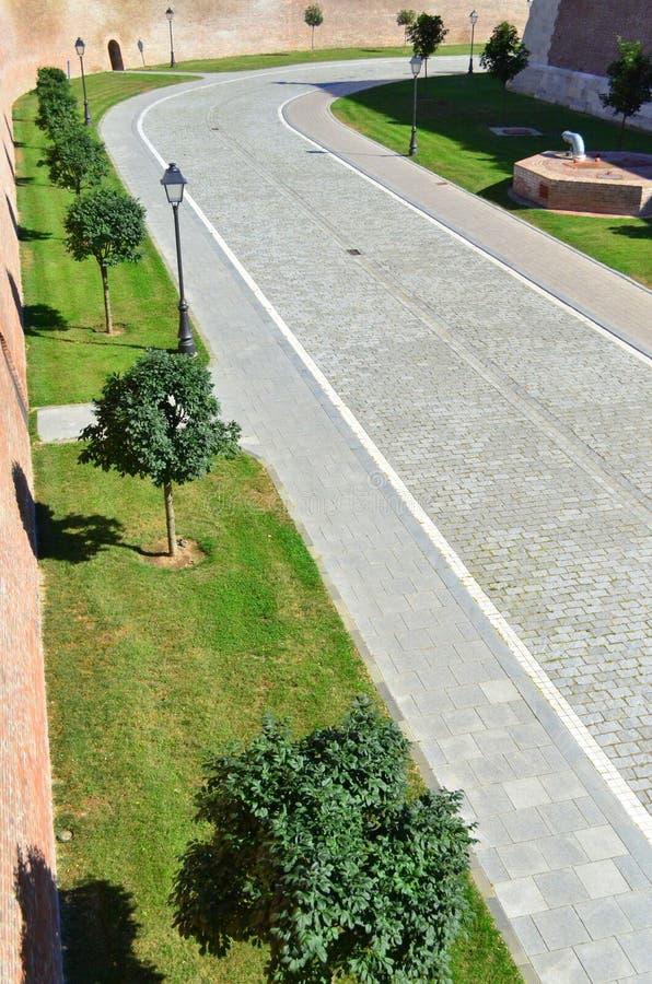 Inner courtyard of Alba Iulia citadel #3. Image of the inner courtyard of Alba Iulia citadel in Alba Iulia city royalty free stock images