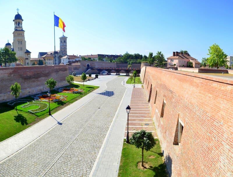 Inner courtyard of Alba Iulia citadel #9. Image of the inner courtyard of Alba Iulia citadel in Alba Iulia city stock photos