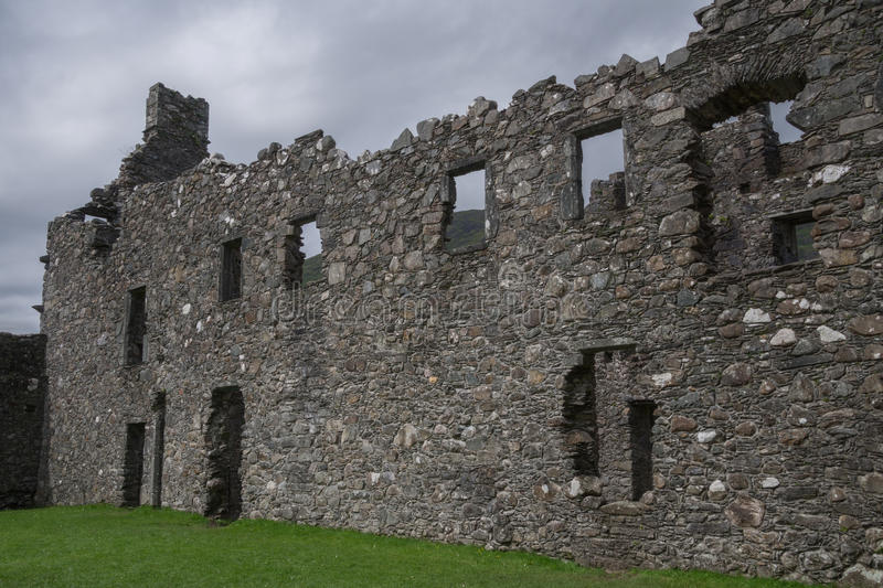 Inner courtyard of Kilchurn Castle, Loch Awe, Argyll and Bute, Scotland. Ruins of Kilchurn Castle in Loch Awe in Argyll and Bute, Scotland. Kilchurn Castle used stock images