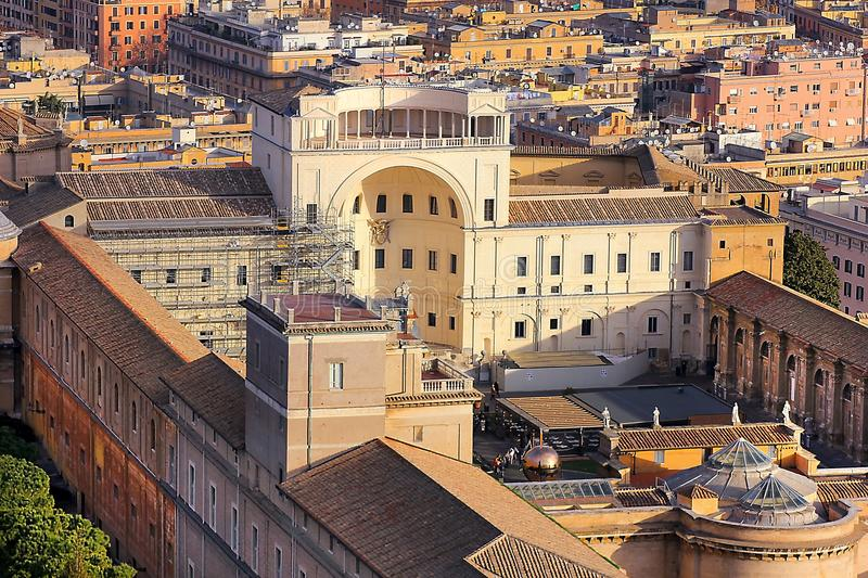 Inner courtyard of the Vatican Museum, Rome royalty free stock image