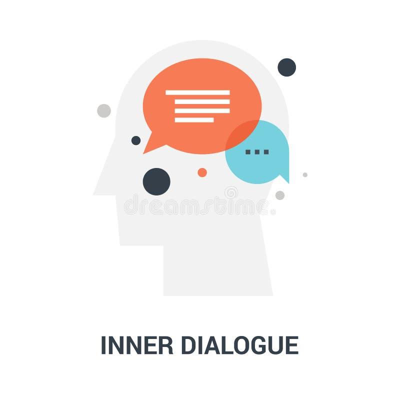 Inner dialogue icon concept vector illustration