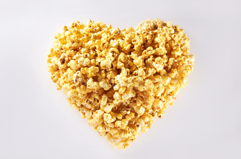 Inner-Form-Popcorn lizenzfreie stockfotografie
