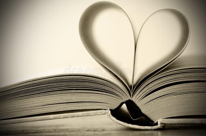 Inner-geformtes Buch stockfotografie