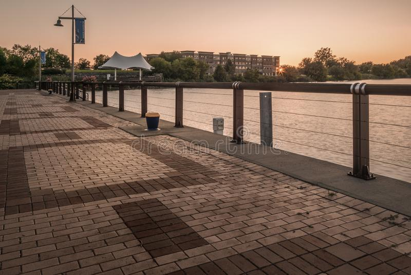 Inner Harbor Amphitheater in Syracuse, New York. Cobblestone, outdoor, park, walking, area, jogging, travel, state, central, cny, upstate, landscape, dock royalty free stock image