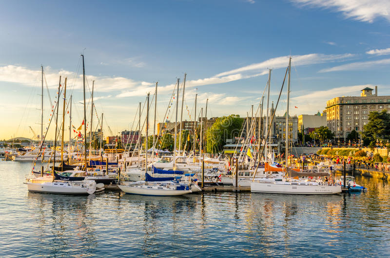 Inner Harbour at Sunset royalty free stock images