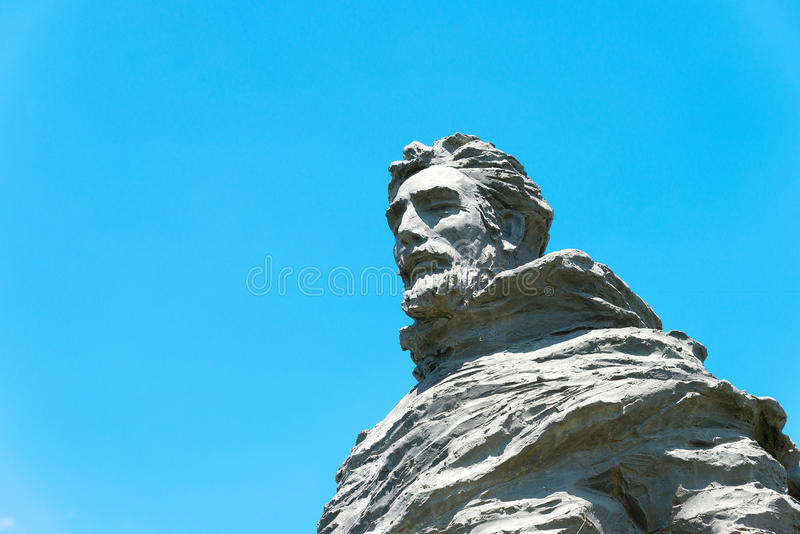 INNER MONGOLIA, CHINA - Aug 10 2015: Marco Polo Statue at Kublai. Square in Zhenglan Banner, Xilin Gol, Inner Mongolia, China royalty free stock images