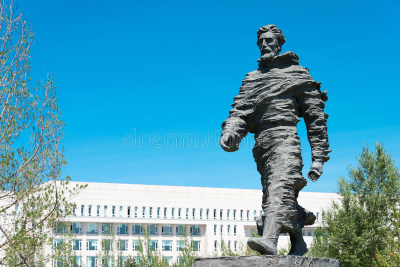 INNER MONGOLIA, CHINA - Aug 10 2015: Marco Polo Statue at Kublai. Square in Zhenglan Banner, Xilin Gol, Inner Mongolia, China royalty free stock photos