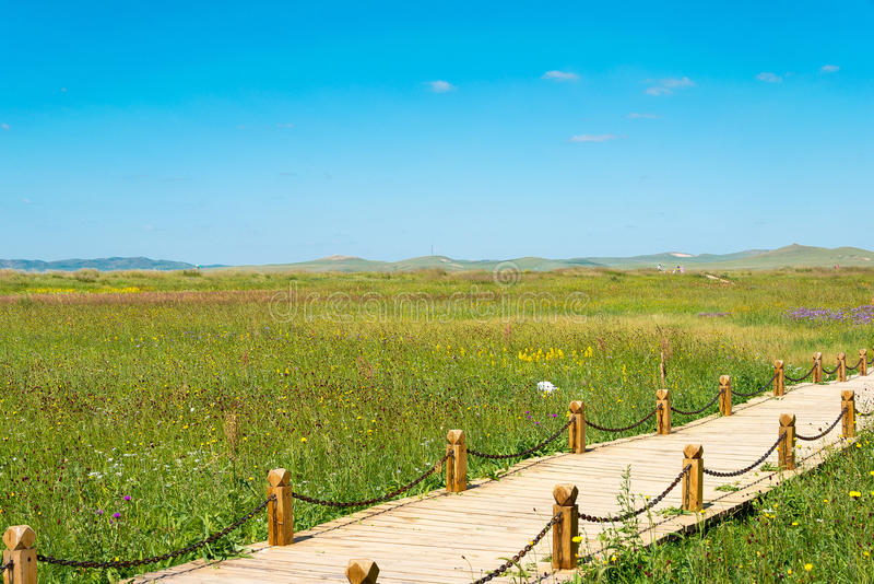 INNER MONGOLIA, CHINA - Aug 10 2015: Site of Xanadu (World Heritage site). a famous historic site in. Zhenglan Banner, Xilin Gol, Inner Mongolia, China stock photos